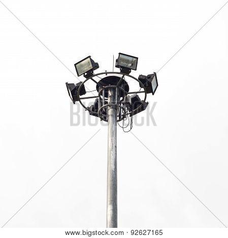 Stadium Lights Isolated On White Background
