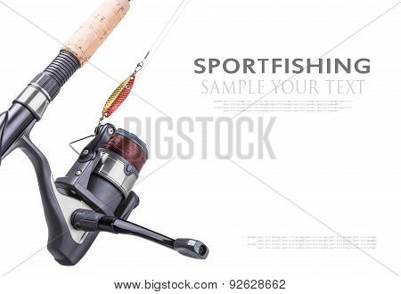 Fishing Tackle Isolated On White Background