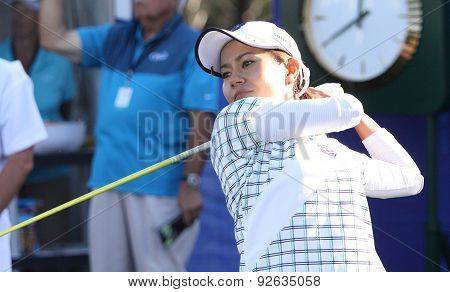 Ai Miyazato At The Ana Inspiration Golf Tournament 2015