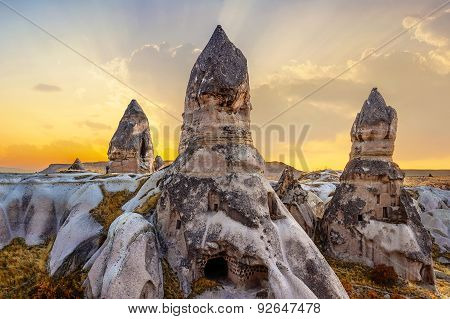 Phallic Rock In Cappadocia, Turkey.
