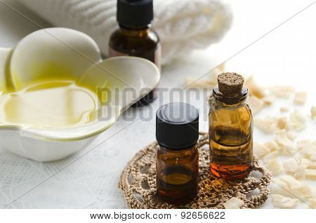 essential oils with coconuts