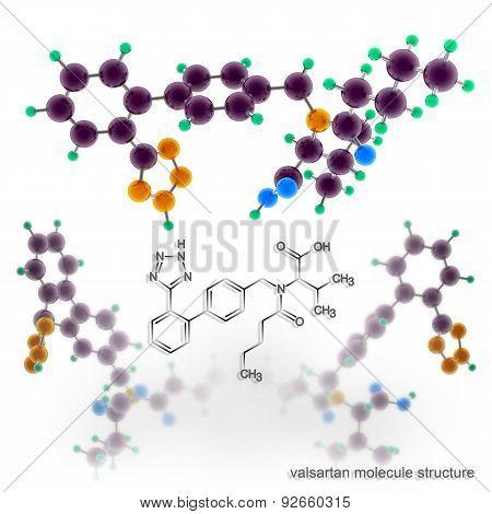 Valsartan Molecule Structure