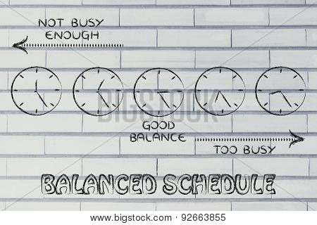 Balanced Schedule At Work: Too Busy Or Not Enough