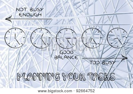 Planning Your Tasks: Too Busy Or Not Enough