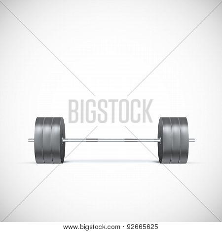 Metal barbell.
