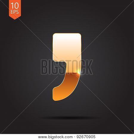 Vector comma icon. Eps10