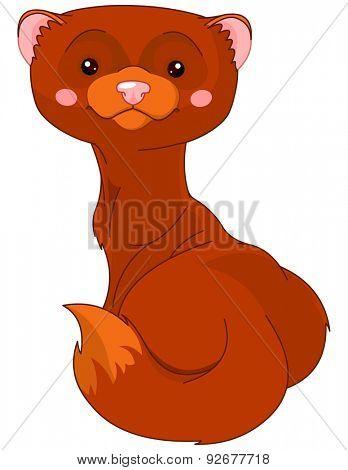 Illustration of cute Mink