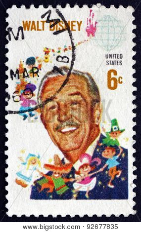 Postage Stamp USA 1968 Walt Disney, Cartoonist
