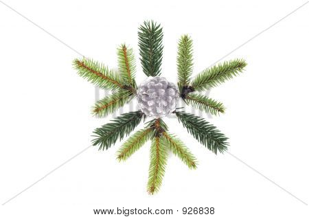 christmas decoration rosette isolated on white background. poster