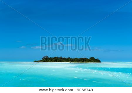 Remote Caribean Island. Silence and beautiful places. poster