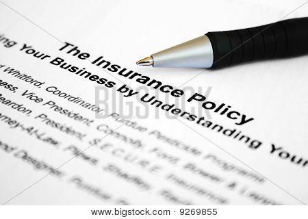 La póliza de seguro