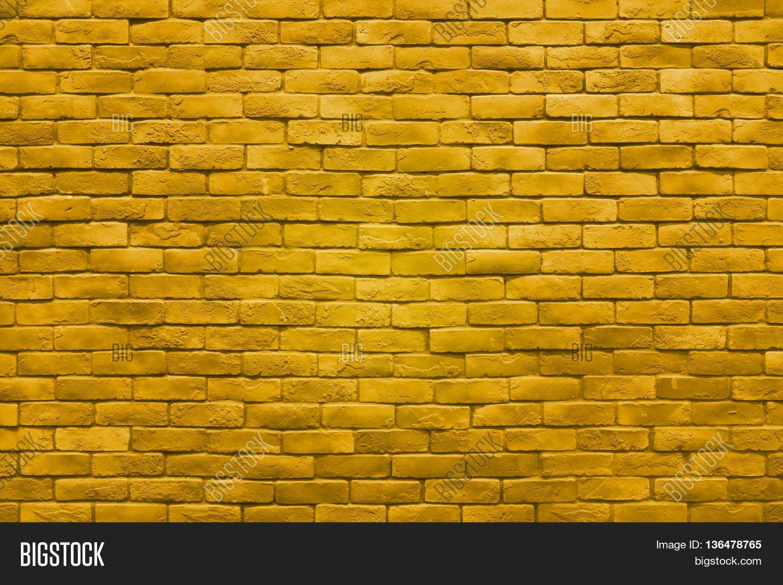Yellow Gold Brick Wall Image & Photo (Free Trial) | Bigstock