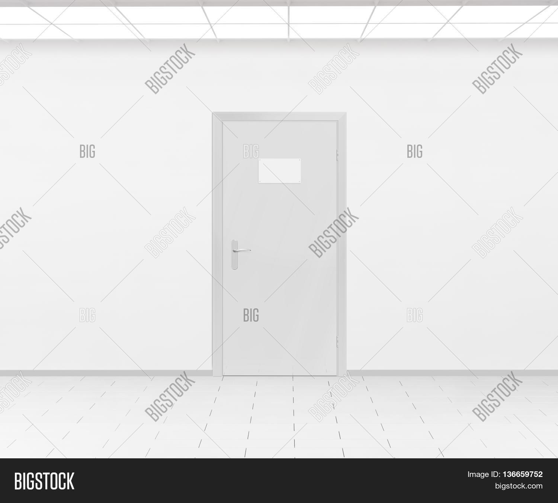 Blank Name Plate Design Mockup Handing On Door 3d Render Sign Mock Up Template