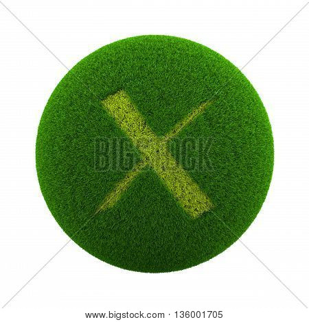 Grass Sphere Cancel Icon