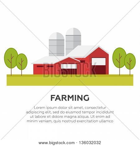 Organic products farm fresh products concept eps10