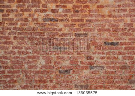 Vintage red brick wall texture for grunge background