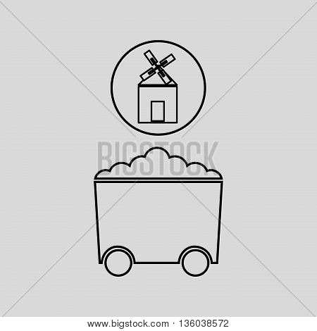coal mining industry design, vector illustration eps10 graphic