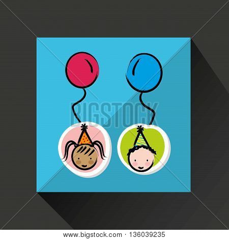 happy kids design, vector illustration eps10 graphic