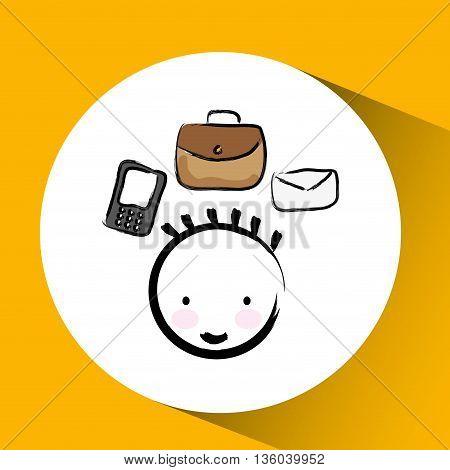 businessman drawing design, vector illustration eps10 graphic