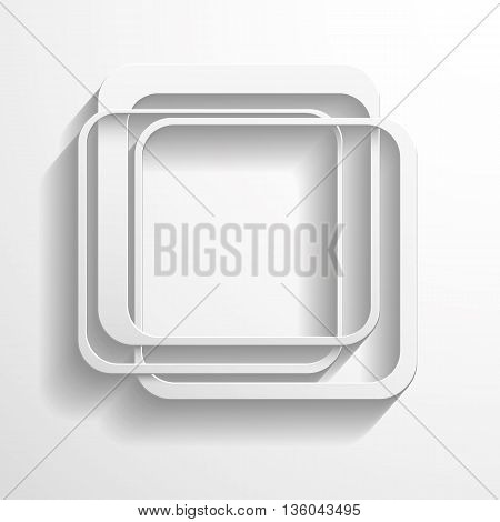 Vector background with a white paper geometric shape