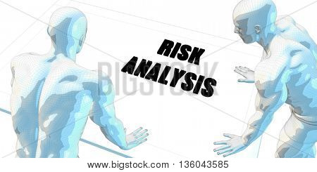 Risk Analysis Discussion and Business Meeting Concept Art 3d Illustration Render