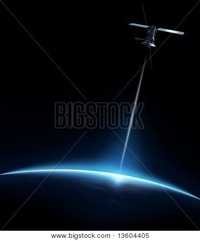 Communication Between Satellite And Earth