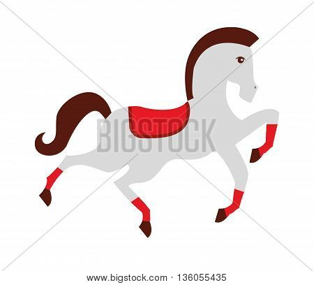 circus horse isolated icon design, vector illustration  graphic