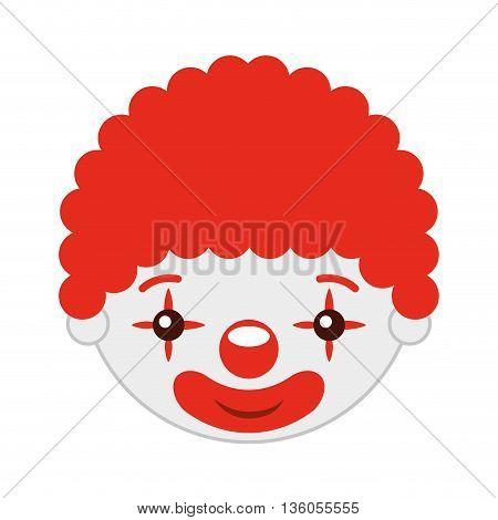 clown head isolated icon design, vector illustration  graphic