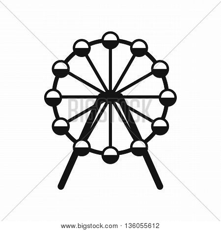 Singapore Flyer, tallest wheel in the world icon in simple style isolated on white background
