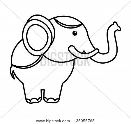 circus elephant isolated icon design, vector illustration  graphic