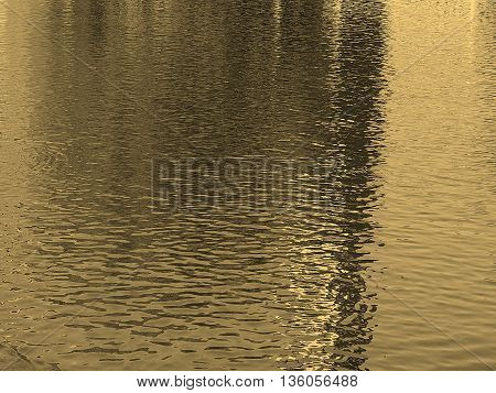 Reflections In Water Sepia