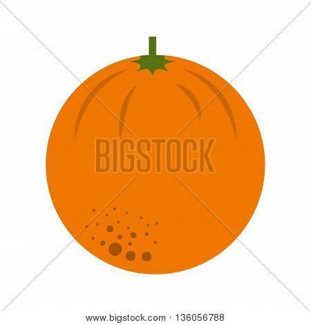 orange citrus fresh fruit isolated icon design, vector illustration  graphic