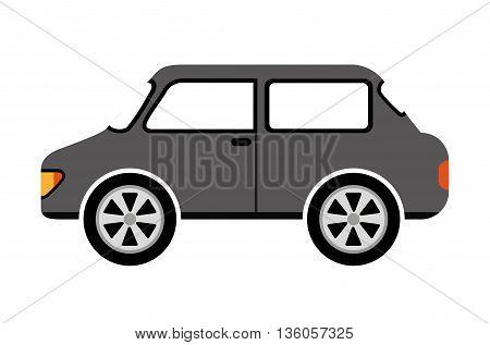 sedan style car isolated icon design, vector illustration  graphic