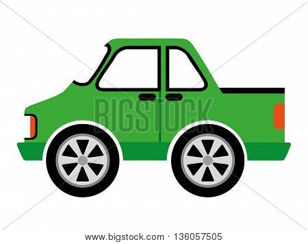 style car isolated icon design, vector illustration  graphic