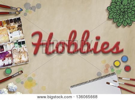 Hobbies Hobby Leisure Activity Free-time Pleasure Concept poster