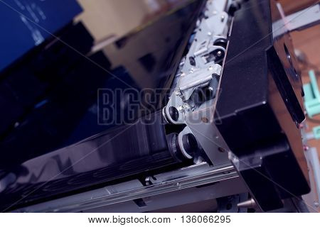 Fragment of the digital laser printing machine.