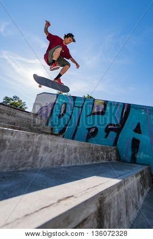 Thiago Borges During The Dc Skate Challenge