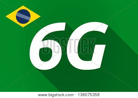 Long Shadow Brazil Flag With    The Text 6G