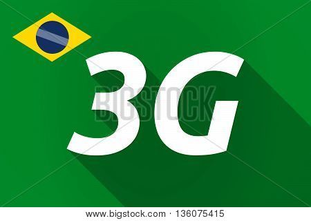 Long Shadow Brazil Flag With    The Text 3G