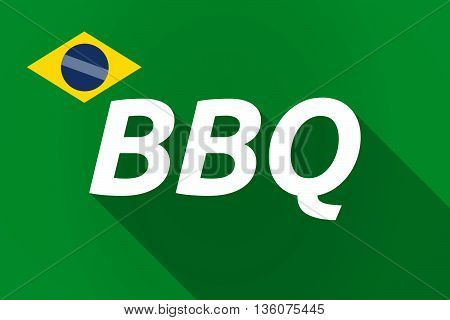 Long Shadow Brazil Flag With    The Text Bbq