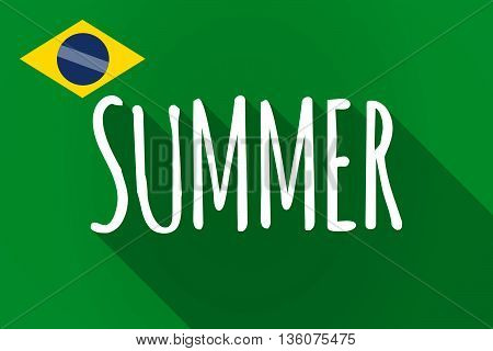 Long Shadow Brazil Flag With    The Text Summer