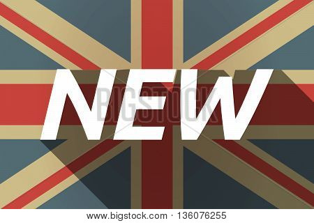 Long Shadow Uk Flag With    The Text New