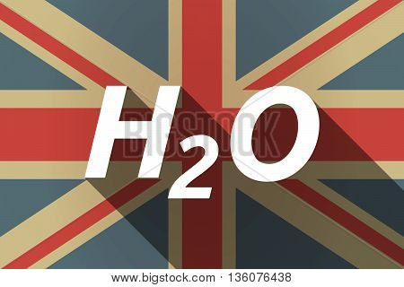 Long Shadow Uk Flag With    The Text H2O