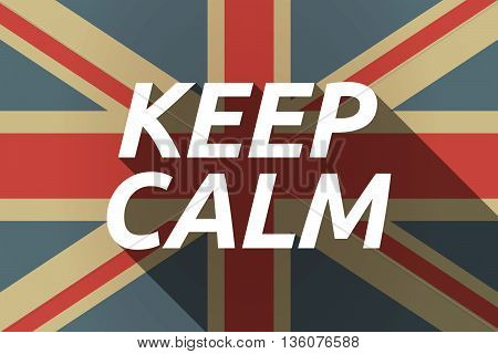 Long Shadow Uk Flag With    The Text Keep Calm