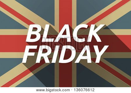 Long Shadow Uk Flag With    The Text Black Friday