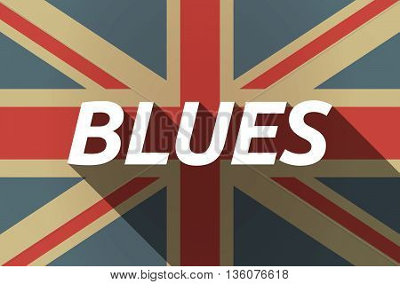 Long Shadow Uk Flag With    The Text Blues