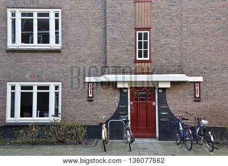 Red Entrance Door