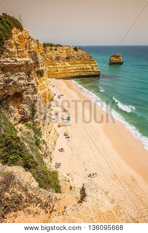 Praia da Marinha - Beautiful Beach Marinha in Algarve Portugal
