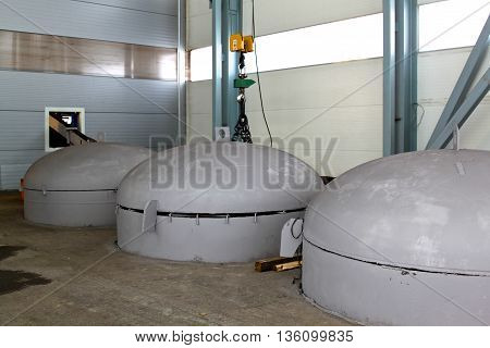 visible part of the capacity for heat treatment of metal