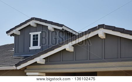 Dormer Roof Gable New Home Construction Architectural Design